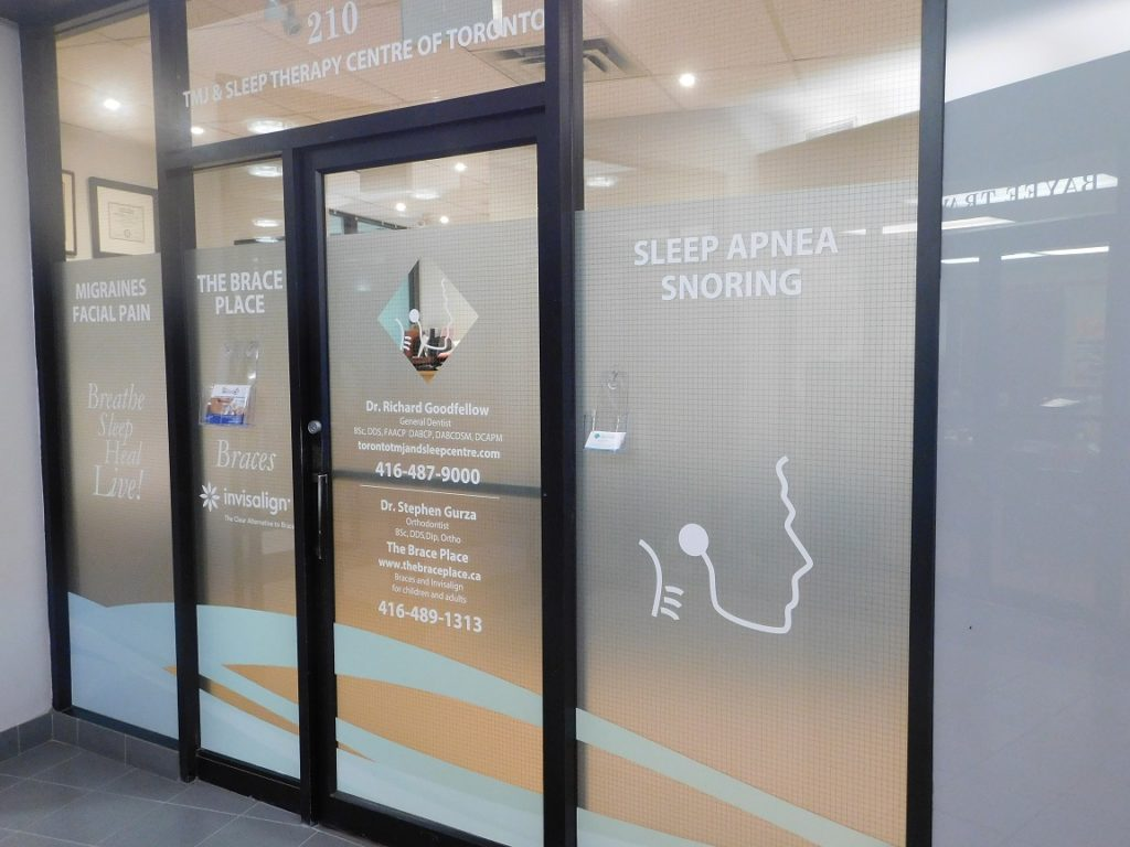 Toronto TMJ and Sleep Apnea Dentist Clinic Entrance